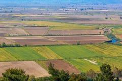 Vue aérienne de terre de ferme Image libre de droits