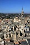 Vue aérienne de Toledo, Espagne Images libres de droits