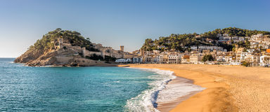 Vue aérienne de Tossa de Mar en Costa Brava, Catalogne Photo stock