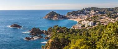 Vue aérienne de Tossa de Mar en Costa Brava, Catalogne Images stock
