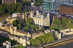 Vue aérienne de tour de Londres Photos stock