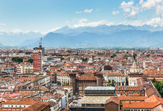 Vue aérienne de Turin, Turin, Italie Photographie stock