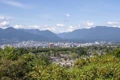 Vue aérienne de Vancouver un jour ensoleillé clair photos libres de droits