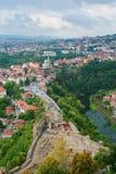 Vue aérienne de Veliko Tarnovo, Bulgarie Photo libre de droits