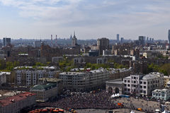 Vue aérienne de Victory Parade, Moscou, Russie Photos stock