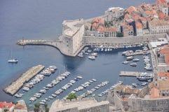 Vue aérienne de vieille ville de Dubrovnik en Croatie Photos libres de droits