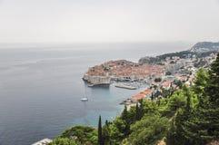 Vue aérienne de vieille ville de Dubrovnik en Croatie Images libres de droits