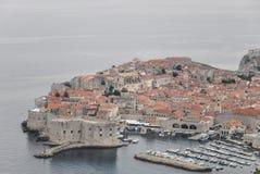 Vue aérienne de vieille ville de Dubrovnik en Croatie Photographie stock libre de droits