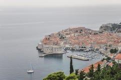 Vue aérienne de vieille ville de Dubrovnik en Croatie Images stock