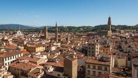 Vue aérienne de vieille ville Florence Image libre de droits