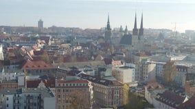 Vue aérienne de vieille ville de Halle Saale clips vidéos