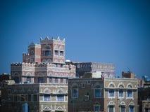 Vue aérienne de vieille ville de Sanaa, Yémen Photographie stock libre de droits