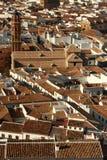 Vue aérienne de vieilles vieilles maisons à Antequera Image stock