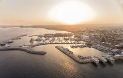 Vue aérienne de vieux port de Limassol, Chypre image stock