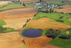 Vue aérienne de village Photographie stock