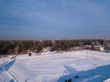 Vue aérienne de ville photo stock