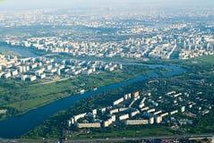 Vue aérienne de ville Images libres de droits
