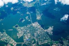 Vue aérienne de ville Photos stock