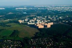 Vue aérienne de ville Photo libre de droits