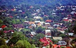 Vue aérienne de ville Image stock