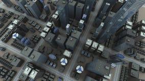 Vue aérienne de ville Photographie stock