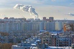 Vue aérienne de ville Balashikha dans la région de Moscou de la Russie photographie stock