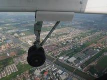 Vue aérienne de ville de Bangkok du vol de propulseur de jumeau d'Airbus Photos stock