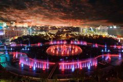 Vue aérienne de ville de Bucarest images stock