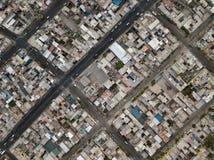 Vue aérienne de ville d'Arequipa au Pérou image stock