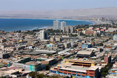 Paysage urbain d'Arica Images stock