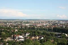 Vue aérienne de ville générale d'Oradea Images stock