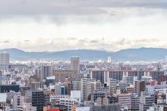 Vue aérienne de ville d'Osaka, Kansai, Japon Photo stock