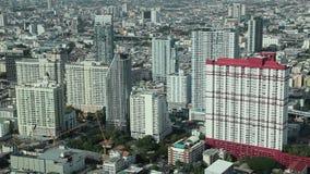 Vue aérienne de ville de Bangkok clips vidéos