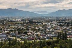 Vue aérienne de ville de Blenheim au Nouvelle-Zélande Photographie stock