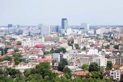 Vue aérienne de ville de Bucarest Images libres de droits