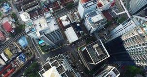 Vue aérienne de ville de Kuala Lumpur en Malaisie banque de vidéos