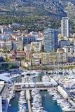 Vue aérienne de ville de Monte Carlo au Monaco Image stock