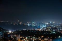 Vue aérienne de ville de Pattaya Image libre de droits
