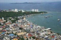 Vue aérienne de ville de Pattaya, Chonburi, Thaïlande. Images libres de droits