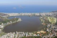 Vue aérienne de ville de Rio de Janeiro Images libres de droits