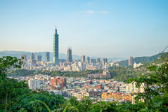 Vue aérienne de ville de Taïpeh Images libres de droits