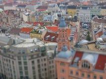 Vue aérienne de ville de Vienne photographie stock libre de droits