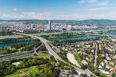 Vue aérienne de ville de Vienne photo stock