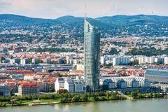 Vue aérienne de ville de Vienne images libres de droits