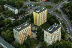 Vue aérienne de ville de Wroclaw en Pologne Images libres de droits