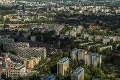 Vue aérienne de ville de Wroclaw en Pologne Photo libre de droits
