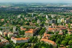 Vue aérienne de ville de Wroclaw en Pologne Photographie stock libre de droits