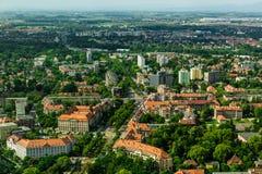 Vue aérienne de ville de Wroclaw en Pologne Image libre de droits