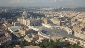 Vue aérienne de Ville du Vatican banque de vidéos