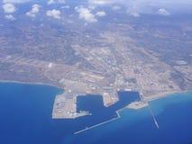 Vue aérienne de ville espagnole photos stock